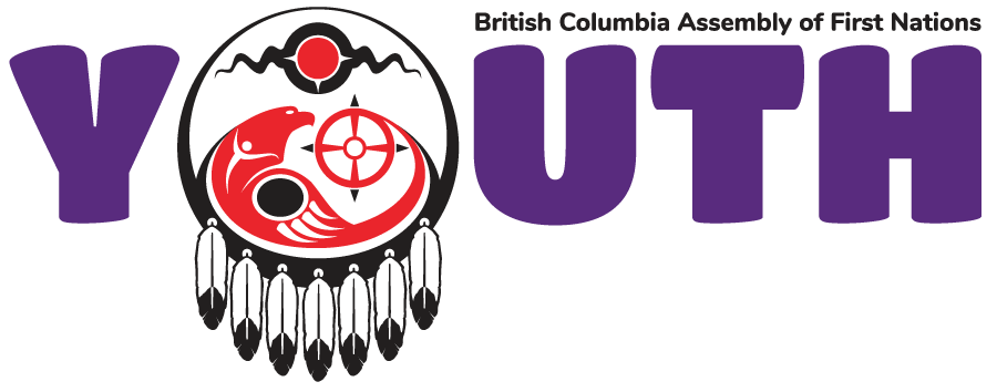 The word youth using the BCAFN logo mark as the letter o
